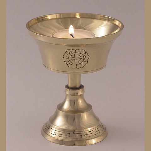 Brass Engraved Butterlamp - 4 inch - Imperfect