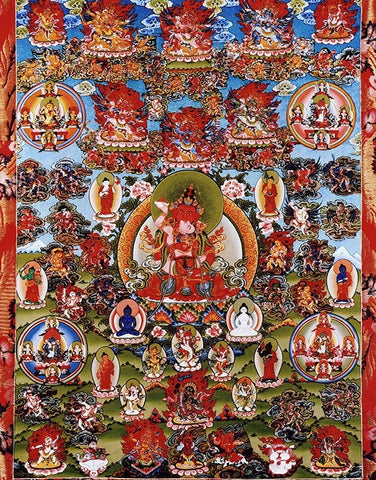 Red Vajrasattva and Retinue Photo