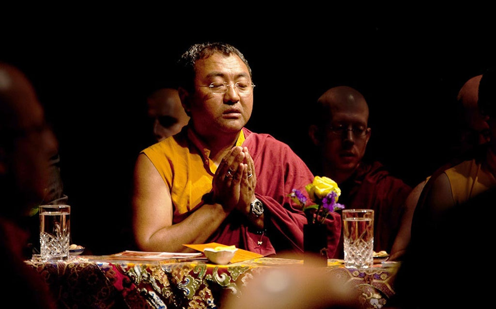 Jigme Tromge Rinpoche Praying Photo