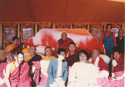 Chagdud Rinpoche with Dilgo Khyentse Photo