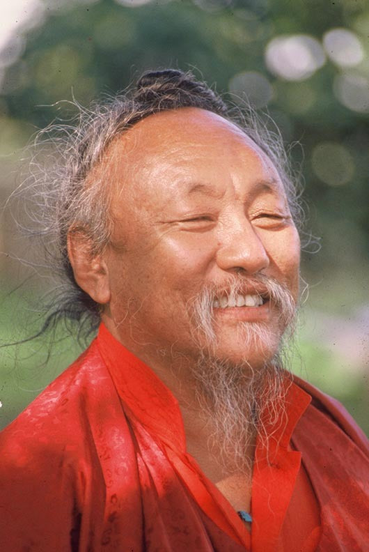 Chagdud Rinpoche in Red Photo