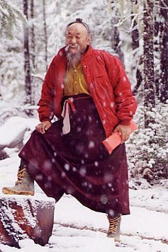 Chagdud Rinpoche in Snow Photo