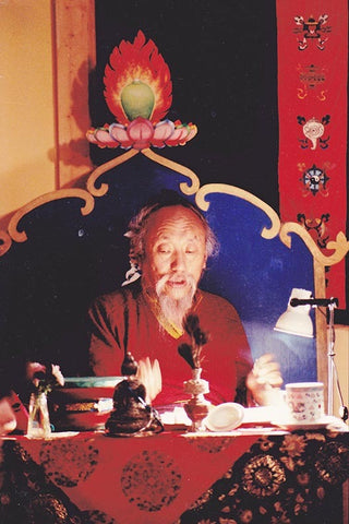 Chagdud Rinpoche on Throne Photo