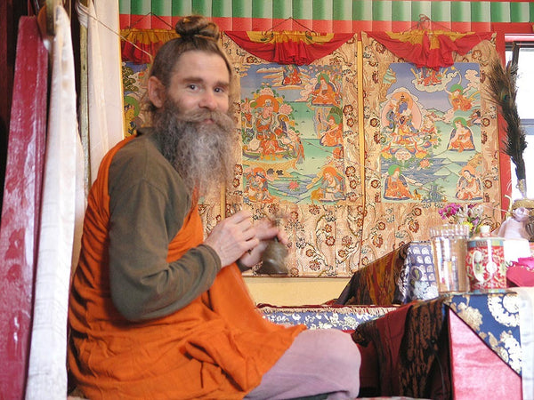 Lama Drimed Norbu on Throne Photo