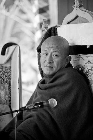 Dzongsar Khyentse Rinpoche Black and White Photo