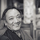 Lama Pema Dorje Rinpoche Black and White Photo