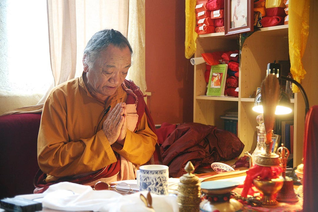 Lama Pema Dorje Rinpoche Praying Photo