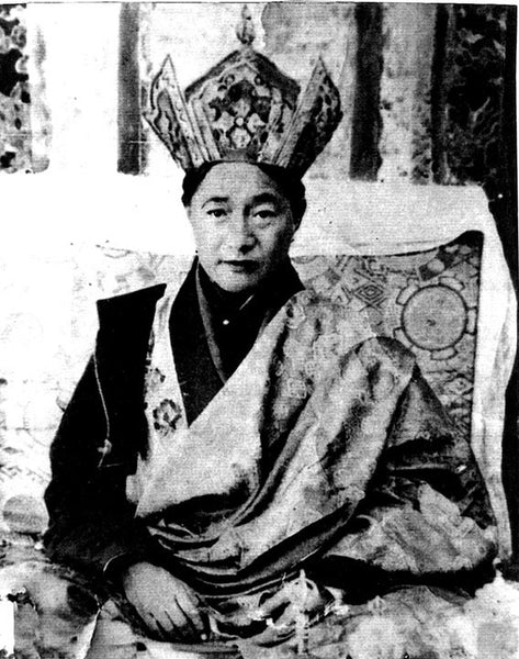 Dudjom Rinpoche on Throne Photo