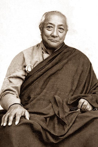 Dilgo Khyentse Rinpoche Black and White Photo