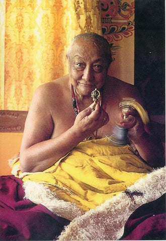 Dilgo Khyentse Rinpoche with Vajra Photo