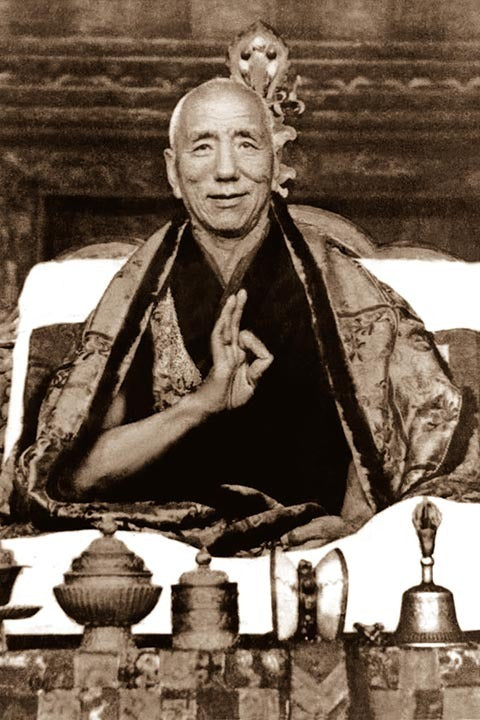 Jamyang Khyentse Chokyi Lodro Black and White Photo