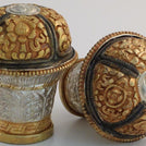 Gold and Silver Thangka Knob Set - Extra Large