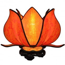 Citrus Orange Blooming Lotus Lamp