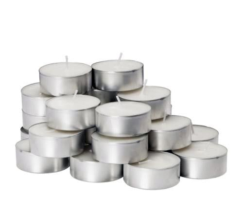 Unscented White Tealight Candle