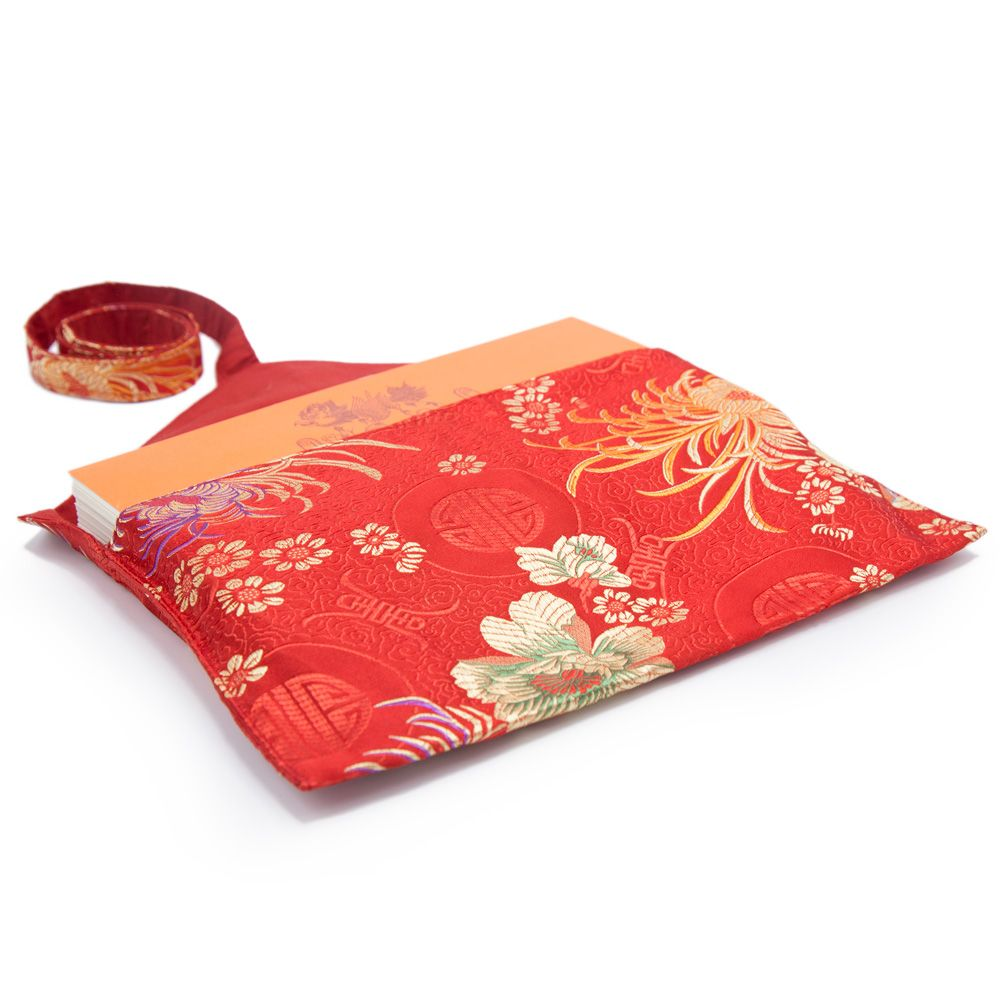 Red Peony Text Envelope - Medium