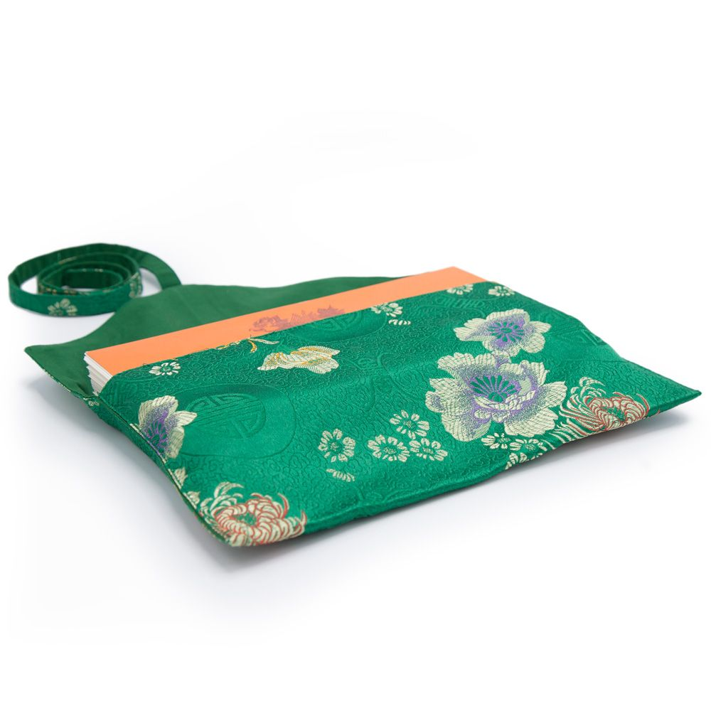 Green Peony Text Envelope - Medium