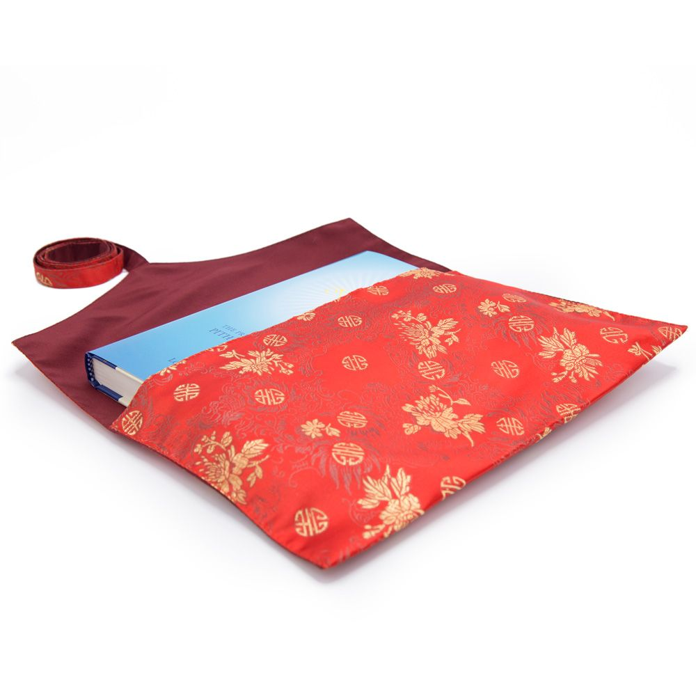 Red Flowers and Medallions Book Envelope