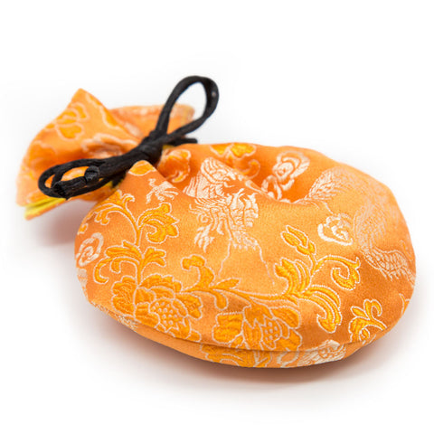 Orange Brocade Mala Bag - Small