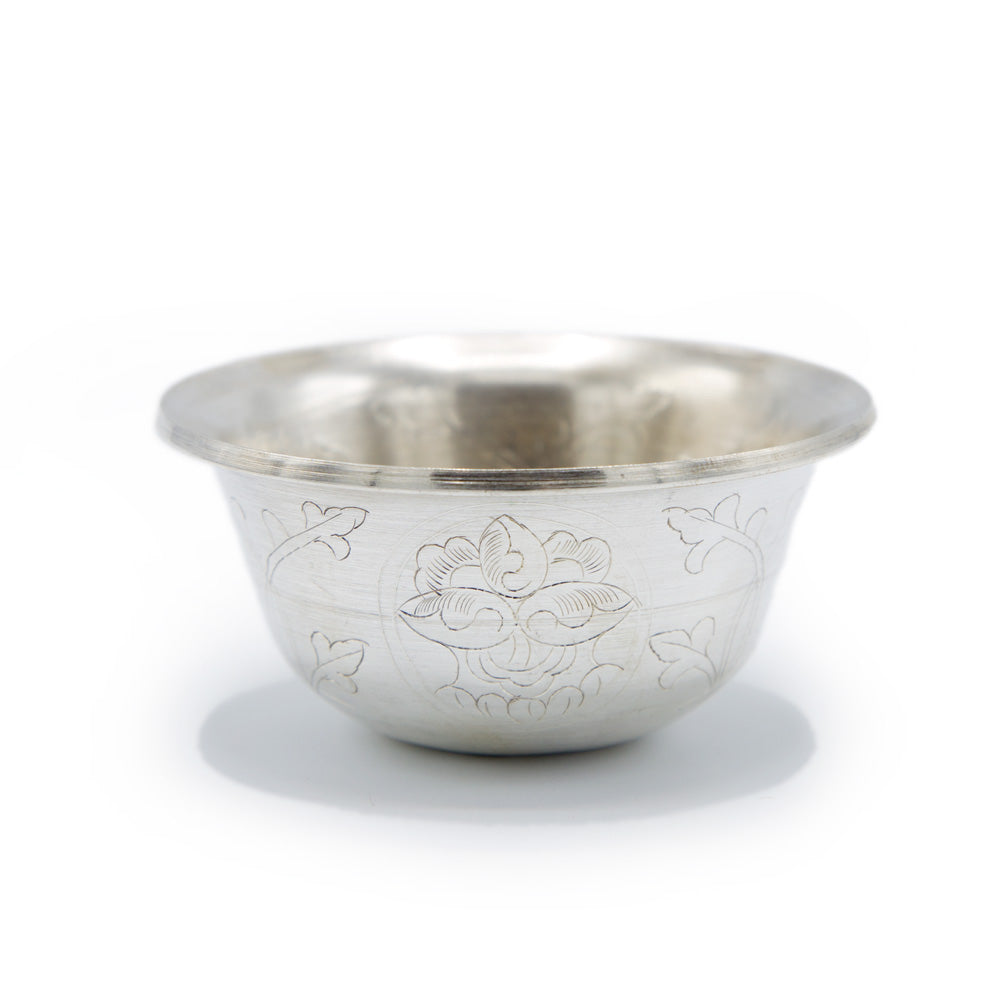 Engraved Silver Plated Offering Bowls