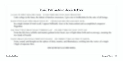 Concise Standing Red Tara Text