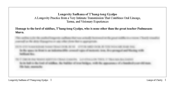 Concise T'hang Tong Gyalpo Text
