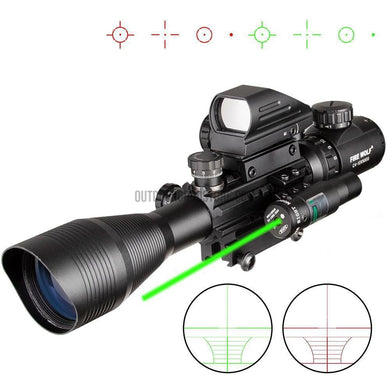 4-12X50 EG Tactical Hunting Red Green Dot Laser Holographic Scope-Riflescopes-Outdoor Good Store