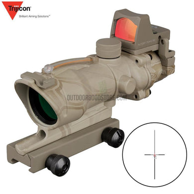 Acog 4x32 Green/Red Fiber Source Hunting Scope Sight RMR Micro Dot-Riflescopes-Outdoor Good Store