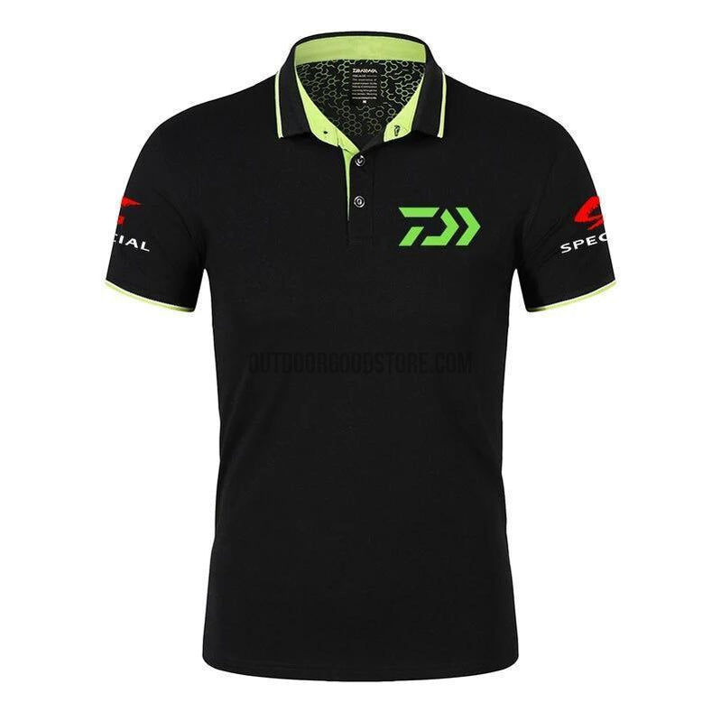 DAIWA Fishing Shirt Cotton Short Sleeve Polo-Outdoor Good Store
