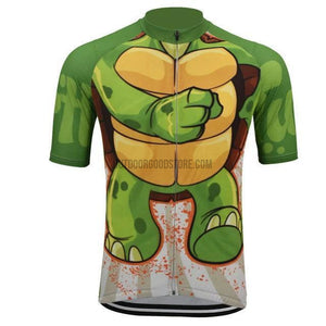 Funny Turtle Turtoise Shell Retro Cycling Jersey-cycling jersey-Outdoor Good Store