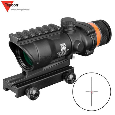 Hunting ACOG 4X32 Rail Optics Red Green Dot Cross Illuminated Glass Etched Reticle Tactical Optical Sight-Riflescopes-Outdoor Good Store