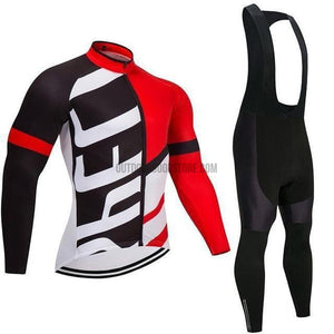 Long Fleece Cycling Jersey Kit Suit-cycling jersey-Outdoor Good Store