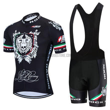 Rock Racing Black Retro Cycling Jersey Kit-cycling jersey-Outdoor Good Store