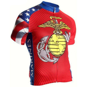 USMC Military Marines Retro Cycling Jersey-cycling jersey-Outdoor Good Store