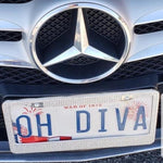 Bling Rhinestone CAR License
