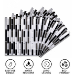 3D Mosaic Tile Self-adhesive Stickers (4 PCS)
