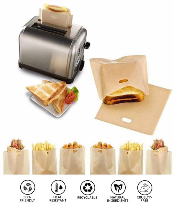 Non-Stick Toaster Bags | Home Accessories - Non-Stick Toaster Bags