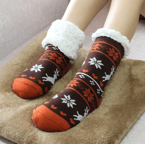 Winter Socks | Clothing - Thermal Fleece Winter Slipper Socks (Pair)
