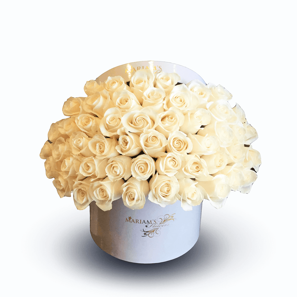 White Rose Classic Box - Mariams Flowers
