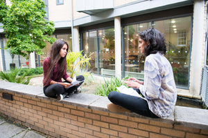 Tutor and student practice for Oxford or Cambridge interview outside