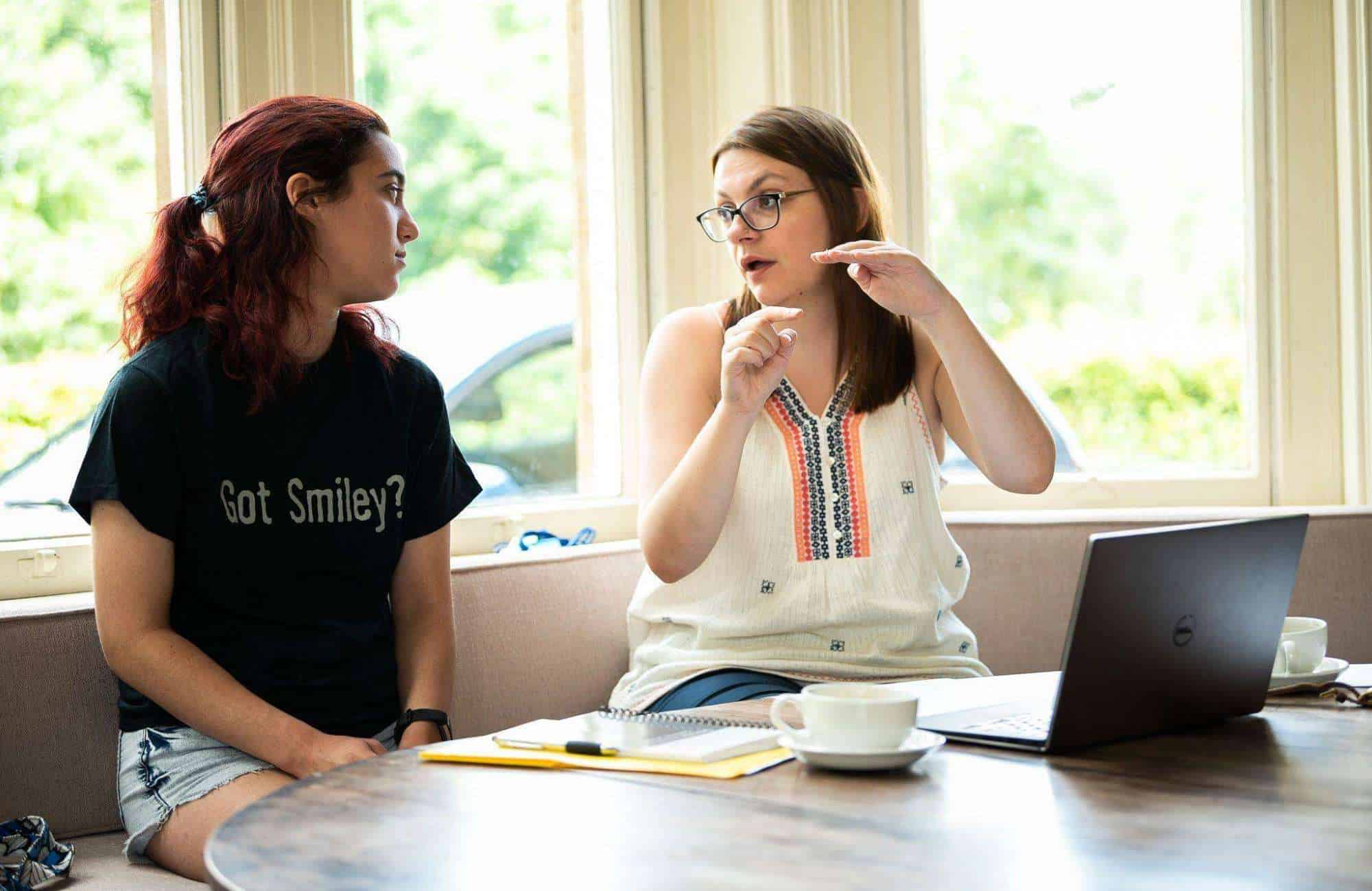 A tutor helps a student prepare for and Oxford or Cambridge Interview