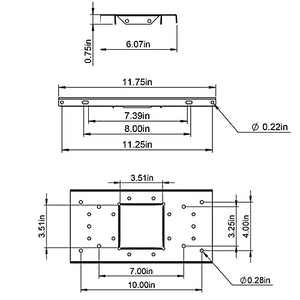 Steel Mailbox Mounting Board
