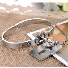 Love-Lock Bracelet and Necklace Set