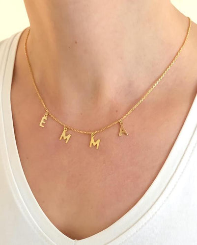 Custom Drop Name Necklace
