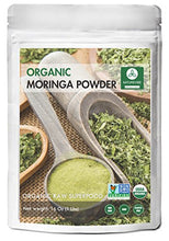 Organic Premium Moringa Green Leaf Powder (1 Lb), Non GMO Verified, Raw Superfood. Rich in Vitamin, Calcium, Magnesium, Iron, Protein | Energy, Immunity, Detox, Weight Loss.