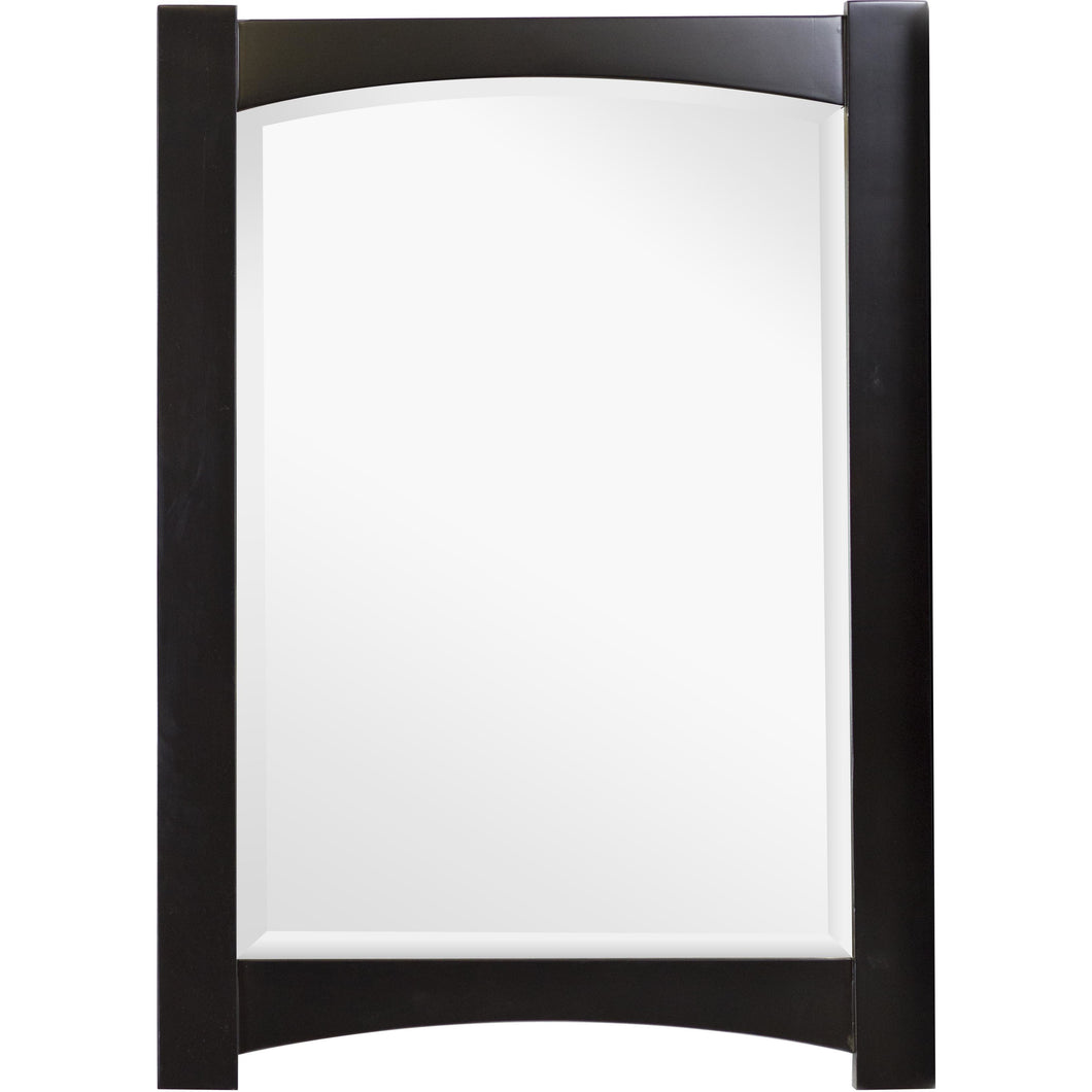 "American Imaginations Elite 24"" Wood Mirror Distressed Antique Walnut AI-1143 - Vanity Connection"