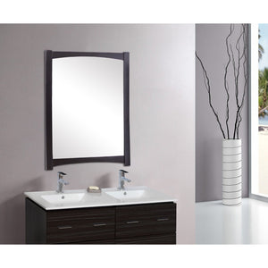 "American Imaginations Elite 34.25"" Wood Mirror Distressed Antique Walnut AI-1144 - Vanity Connection"
