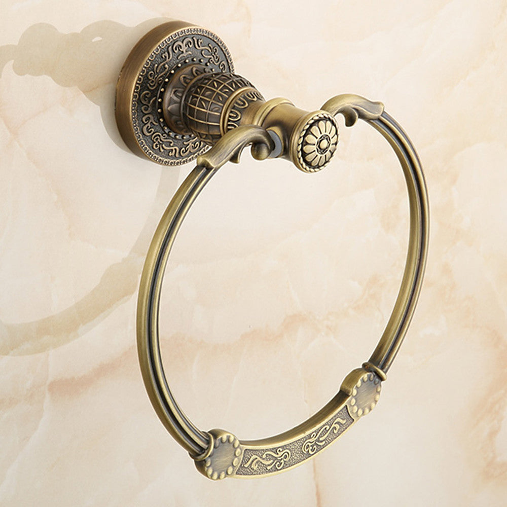 Towel Bar Antique Brass towel ring
