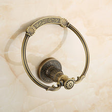Load image into Gallery viewer, Towel Bar Antique Brass towel ring