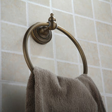 Load image into Gallery viewer, Towel Bar Antique Brass