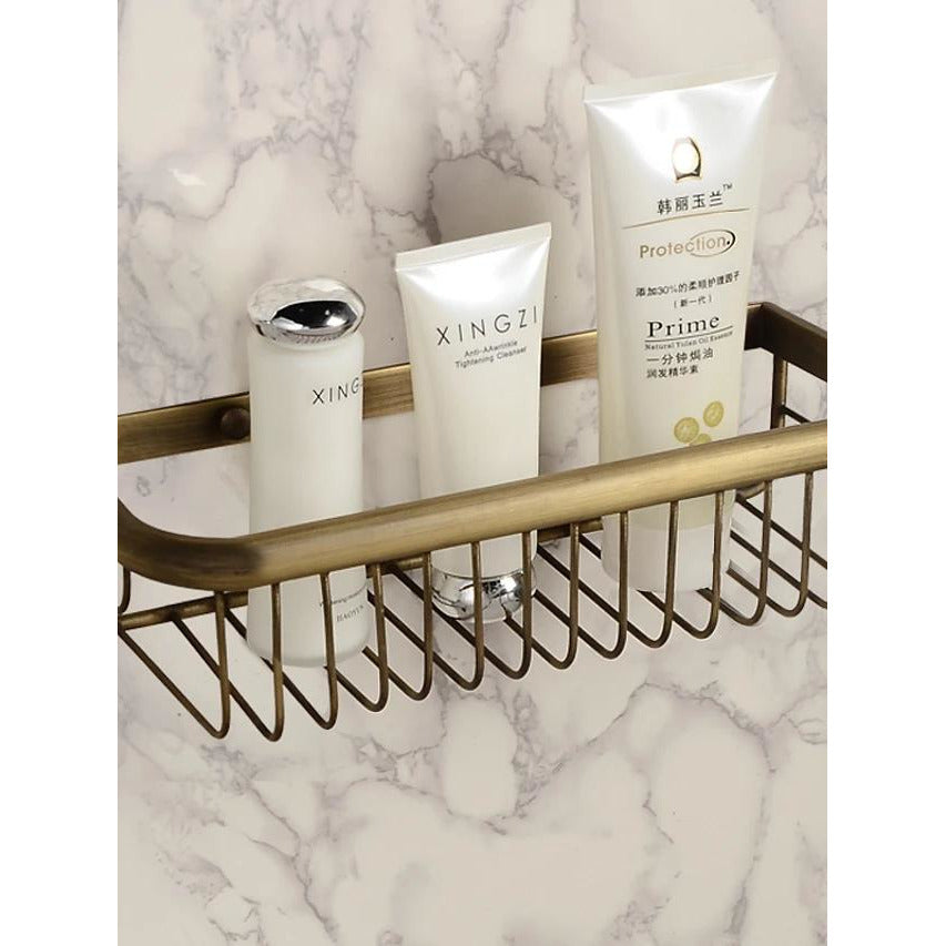 Bathroom Shelf Neoclassical Brass